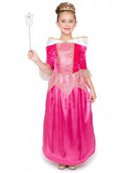 Déguisement princesse fée rose avec tiare fille