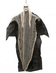 Décoration faucheuse noire et blanche à suspendre Halloween 110 cm