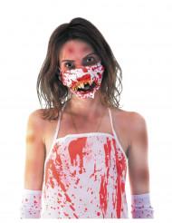 Masque bouche zombie ensanglanté adulte Halloween