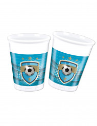 8 Gobelets en plastique 20cl Football Fans