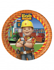 8 Assiettes en carton 23cm  Bob the builder ™