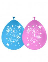 8 Ballons latex Licorne