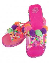 Chaussures princesses roses à customiser fille