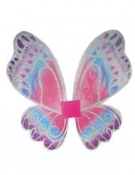 Ailes fée papillon pastel pailletées fille