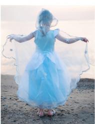 Cape luxe bleue fille