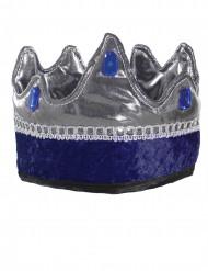 Couronne roi chevalier bleu enfant