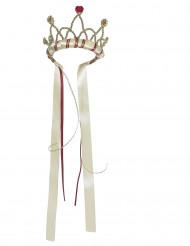 Couronne reine médiévale beige fille
