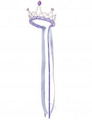 Couronne reine médiévale lilas fille