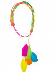 Tour de tête avec plumettes multicolores