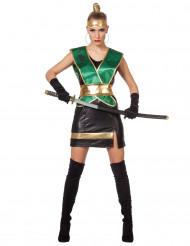Déguisement ninja vert femme