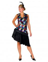 Déguisement charleston losanges multicolore femme