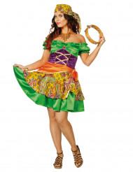 Déguisement bohémienne colorée femme