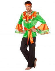 Déguisement danseur rumba orange et verte homme
