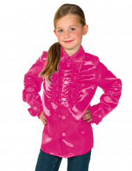 Chemise rose avec froufrous enfant