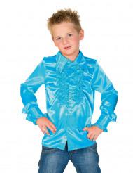 Chemise bleu clair avec froufrous enfant