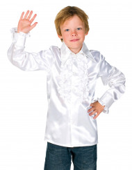 Chemise blanche avec froufrous enfant