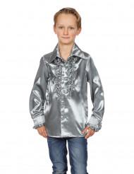 Chemise argentée avec froufrous enfant
