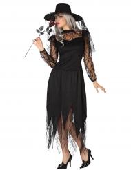 Déguisement sorcière en dentelle femme Halloween