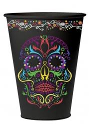6 Gobelets en carton squelette coloré Dia de los muertos 266 ml