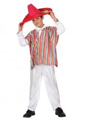 Déguisement mexicain poncho garçon