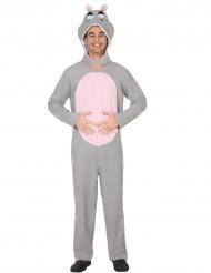Déguisement hippopotame gris adulte