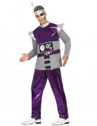 Déguisement robot violet homme