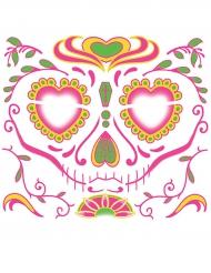 Tatouage ephémere visage Dia de los muertosfemme