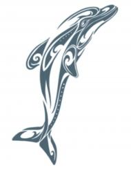 Tatouage ephémere corps dauphin adulte