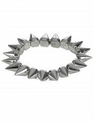 Bracelet punk argenté adulte