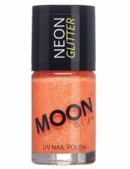 Vernis à ongles orange avec paillettes phosphorescent adulte Moonglow ©