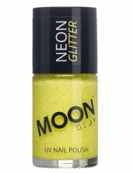 Vernis à ongles jaune avec paillettes phosphorescent adulte Moonglow ©