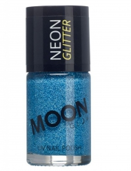 Vernis à ongles bleu avec paillettes phosphorescent adulte Moonglow ©