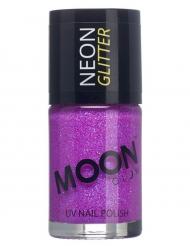 Vernis à ongles violet avec paillettes phosphorescent adulte Moonglow ©