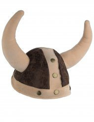 Casque viking souple marron adulte