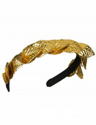 Bandeau couronne de laurier dorée adulte