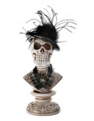 Décoration tête de mort gothique d