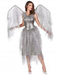 Déguisement ange baroque argenté femme