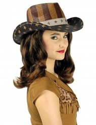 Chapeau Far West américain luxe adulte