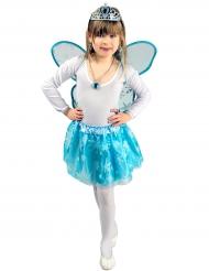 Tutu et ailes cristal glacé bleu fille