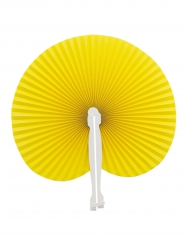Eventail pliable jaune