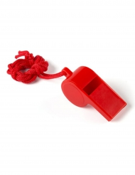 Sifflet rouge avec ficelle