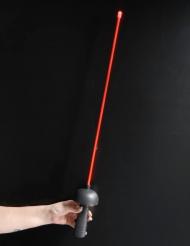 Epée mousquetaire lumineuse rouge 80 cm