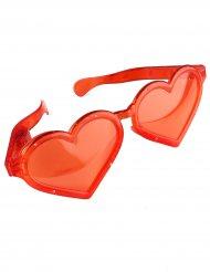 Lunettes géantes coeur rouge lumineuses adulte