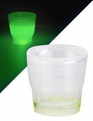 Verre à shooter lumineux vert 50 ml