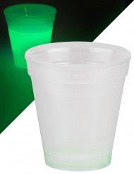 Verre lumineux vert 250 ml