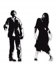 2 Silhouettes en carton zombies 86 x 91 cm