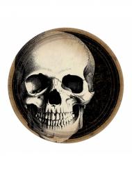 10 Assiettes en carton Crâne d