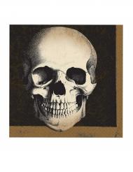 20 Serviettes en papier tête de mort Halloween 33 x 33 cm