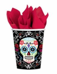 10 Gobelets en carton Dia de la muerte 266 ml