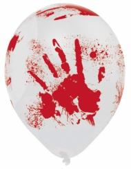 6 Ballons latex Halloween sanglant